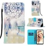 Pattern Printing Leather Wallet Case for Samsung Galaxy A60 – Feather Dream Catcher