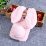 Bunny Design Rhinestone Furry TPU Mobile Cover for Huawei Honor View 20 / V20 (China) – Pink