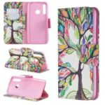 Pattern Printing Leather Wallet Case for Huawei P Smart Plus 2019 / Enjoy 9s / Honor 10i – Colorized Tree