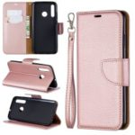 Litchi Skin Leather Wallet Case for Huawei P Smart Plus 2019 / Enjoy 9s / Honor 10i – Rose Gold
