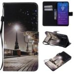 Pattern Printing Leather Wallet Case for Huawei Y7 (2019) / Y7 Pro (2019) / Enjoy 9 – Streetscape