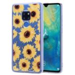 Glitter Sequins Inlaid Pattern Printing TPU Case for Huawei Mate 20 – Sunflowers