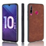 PU Leather Coated TPU Back Phone Cover for Huawei Mate 20 Lite – Brown