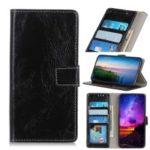 Crazy Horse Vintage Leather Wallet Case for Motorola P40 Play – Black