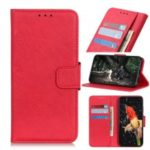 Litchi Skin Leather Wallet Case for Xiaomi Redmi 7 / Redmi Y3 – Red