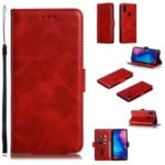 Leather Wallet Stand Case for Xiaomi Redmi Note 7 / Note 7 Pro (India) – Red