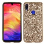 Glitter Powder Electroplating TPU Frame + PC Phone Case for Xiaomi Redmi Note 7 / Note 7 Pro (India) – Gold