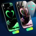 Laser Carving Aurora Luminous 9H Tempered Glass+TPU Bumper Protective Phone Cover for Xiaomi Redmi Note 7S / Note 7 / Note 7 Pro (India) – Dreamy Heart