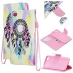 Pattern Printing Leather Wallet Stand Case for Xiaomi Redmi Go – Dream Catcher