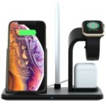 N35 Three-in-one Wireless Charger Stand for Apple Watch/iPhone/AirPods (Not Support FOD Function) – Black