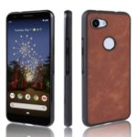 PU Leather Coated TPU + PC Back Phone Casing for Google Pixel 3a XL – Brown