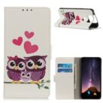 Pattern Printing Wallet Stand Leather Shell for Asus Zenfone 6 ZS630KL – Sweet Owl Family