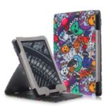 Pattern Printing Vertical Flip Stand Leather Smart Case for Amazon Kindle (2016)/All-New Kindle (2019) – Cartoon Pattern