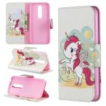 Pattern Printing PU Leather Wallet Cover for Nokia 4.2 – Unicorn