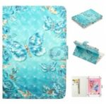 Embossment Patterned  Light Spot Decor Leather Cover for 7 inch Tablet – Blue Butterfly