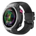 LEMFO Lem9 4G 1GB+16GB GPS Heart Rate Smart Watch – Black / Grey
