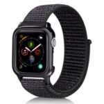Soft Breathable Nylon Sport Loop Wrist Band Strap for Apple Watch Series 4 44mm – Dark Multi-color