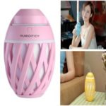 Creative Football 320ml Air Humidifier with LED Light for Car, Office, Home – Pink