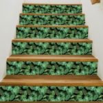 Tropical Plant Creative Stair Wall Sticker Adhesive Room Wallpaper Mural Art Decal 18x100cm