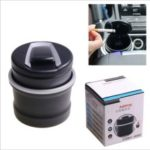 LED Cylinder Car Cigarette Ashtray Portable Cigar Ash Tray Container Ash Cup Holder