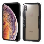 BENKS Series Silicone + Glass Phone Casing for iPhone XS/X 5.8 inch – Transparent Black