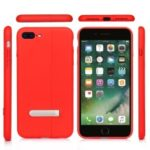 Auto-absorbed Kickstand PC Phone Back Case for iPhone 7 Plus/8 Plus – Red