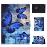 Shock-proof Pattern Printing Card Slot Stand PU Leather Tablet Casing for iPad Pro 11-inch (2018) – Blue Butterflies