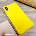 Shock-proof  Wheat Straw TPU Phone Case for iPhone X / XS – Yellow