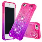 Gradient Glitter Powder Quicksand TPU Case for iPod Touch (2019) / Touch 6 / Touch 5 – Rose / Purple