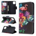 Light Spot Decor Patterned Leather Wallet Phone Shell for iPhone (2019) 6.5-inch – Flamingo
