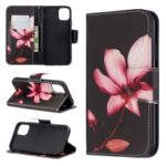 Pattern Printing Cross Texture Wallet Stand Flip Leather Case for iPhone (2019) 6.1-inch – Kapok