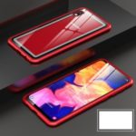 Metal Frame + Tempered Glass Back Detachable Magnetic Hybrid Case for Samsung Galaxy A10 – Red