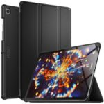 IVSO Tri-fold Stand Auto-wake/seep PU Leather + PC Smart Tablet Shell for Samsung Galaxy Tab S5e SM-T720 – Black