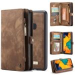 CASEME for Samsung Galaxy A40 2-in-1 Multi-slot Wallet Vintage Split Leather Phone Cover – Brown