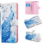 Light Spot Decor Patterned Leather Wallet Case for Samsung Galaxy A70 – Peacock
