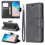 PU Leather Wallet Cover Phone Case for Samsung Galaxy S10 – Dark Grey