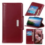 PU Leather Wallet Stand Protective Casing for Samsung Galaxy M40 – Red