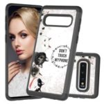 Shock-proof Pattern Printing TPU + PC Detachable 2-in-1 Hybrid Case for Samsung Galaxy Plus – Don't Touch My Phone