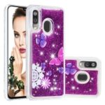 Patterned Quicksand TPU Shockproof Shell for Samsung Galaxy A40 – Butterfly