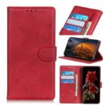 Matte Skin Wallet Leather Stand Case for Samsung Galaxy Note 10 – Red