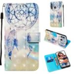 3D Painting Style Leather Phone Wallet Stand Cover Case for Samsung Galaxy M40 / A60 – Dream Catcher