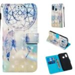 3D Painting Pattern Leather Phone Case with Card Wallet Slots for Samsung Galaxy A20e / A10e – Dream Catcher