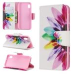 Printing Style PU Leather Flip Stand Phone Case for Samsung Galaxy A20e / A10e – Petals Pattern