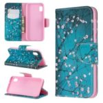 Printing Style PU Leather Flip Stand Phone Case for Samsung Galaxy A20e / A10e – Tree with Flowers