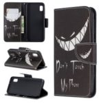 Printing Style PU Leather Flip Stand Phone Case for Samsung Galaxy A20e / A10e – Do not Touch My Phone