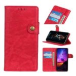 S Shape PU Leather+TPU Phone Case with Wallet Slot for Huawei P Smart Z / Y9 Prime 2019 – Red