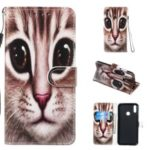 Pattern Printing Leather Wallet Stand Phone Shell Cover for Huawei Y7 (2019) – Style J