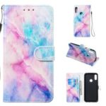 Pattern Printing Leather Wallet Stand Phone Case for Huawei Y6 (2019, with Fingerprint Sensor) / Y6 Prime (2019) – Style A