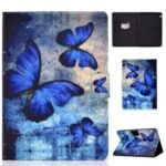 Shock-proof Pattern Printing Card Slot PU Leather Tablet Casing for Huawei MediaPad T5 10 – Blue Butterflies