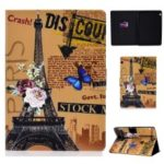 Shock-proof Pattern Printing Card Slot PU Leather Tablet Casing for Huawei MediaPad T5 10 – Eiffel Tower